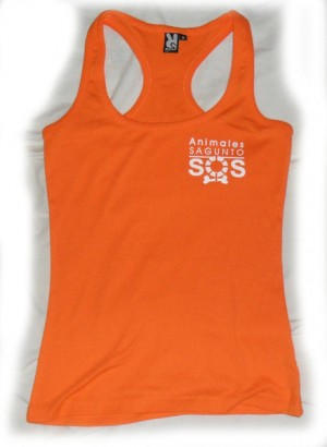 Camiseta Naranja Animales SOS Sagunto